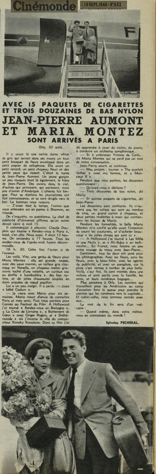 1946 - 10 septembre - Jean-Pierre Aumont