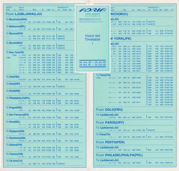 Adria - du 29 Mars 1992 au 24 Octobre 1992