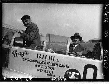 Orly , circuit européen des avions de tourisme : Klebs (portrait à 4 m) : [photographie de presse] / Agence Meurisse 1932