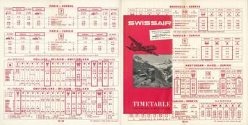 Swissair - du 15 Avril 1951 au  20 Octobre 1951