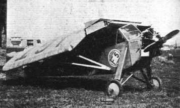 THE FOLDING TEST AT ORLY: (7) One of the French Potez 36 passing the test.