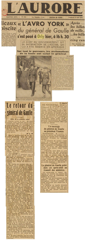 1945 - 31 aout - De Gaulle