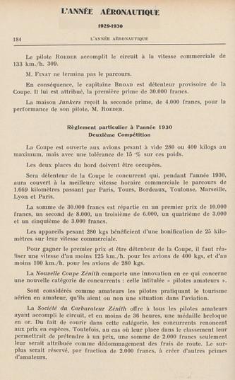 1930 - L'Annee Aeronautique