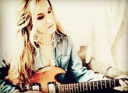 Leah Marie Fuls Electric Guitar Blue Shirt