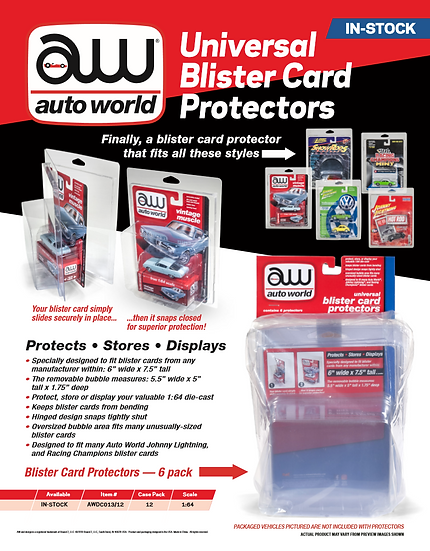 AWDC013 .. Blister Card Protectors - 6 Pack