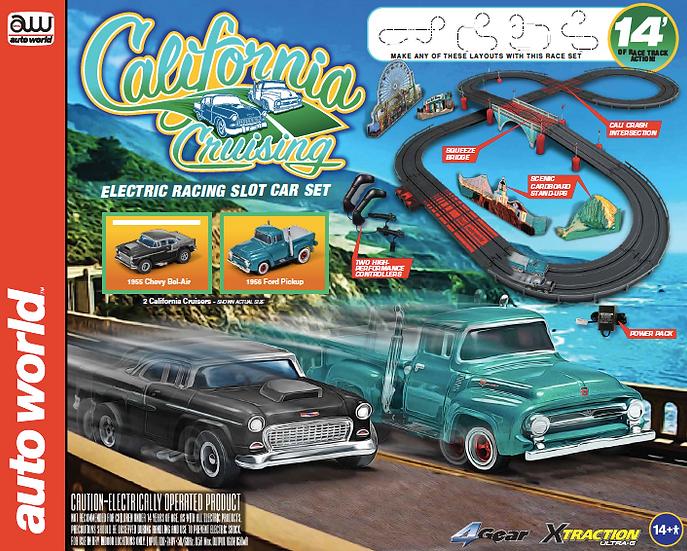 "SRS331 .. Auto World ""California Cruising"" Slot Car Race Set"