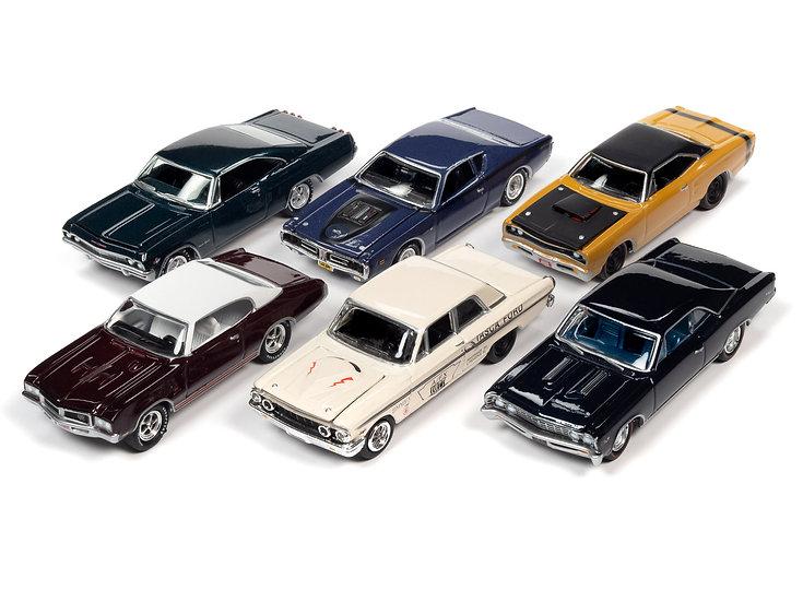 Johnny Lightning  JLMC025 - Set B - 6 Car Case