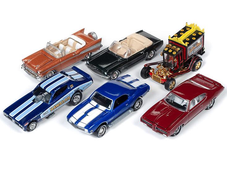 Johnny Lightning JLCG020 - Set B - 6 Car Case
