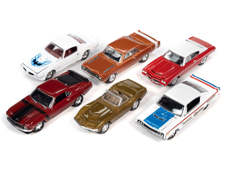 Johnny Lightning  JLMC024 - Set B - 6 Car Case