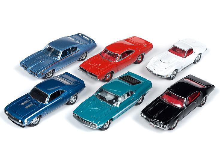 Johnny Lightning  JLMC019 - Set A - 6 Car Case