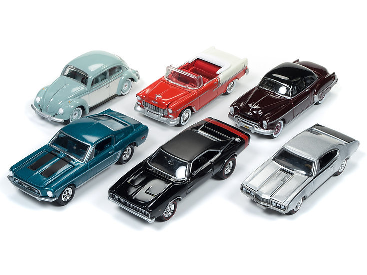 Johnny Lightning JLMC013 - Set A - 6 Car Case