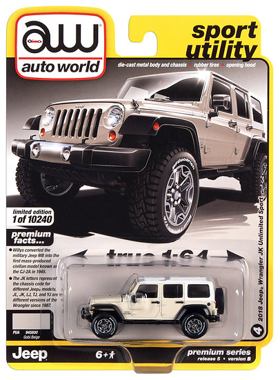 AW64282-4B .. 2018 Jeep Wrangler JK Unlimited Sport