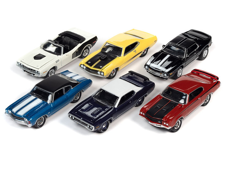 Johnny Lightning  JLMC026 - Set A - 6 Car Case