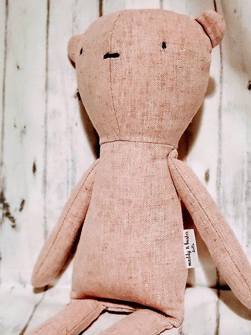 Pink Linen Bear