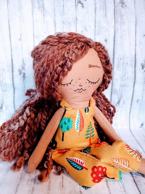 """16""""Heirloom Doll Dark Skin Brunette"""