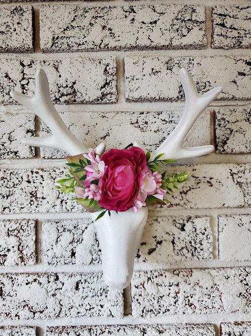 Deers Head Floral Decor