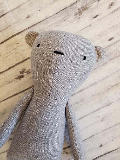 Grey Linen Bear