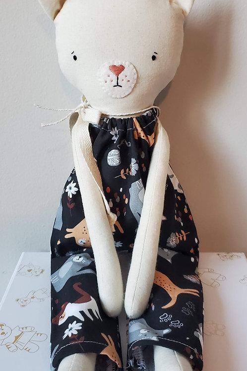 "16"" Heirloom Cat  Doll"
