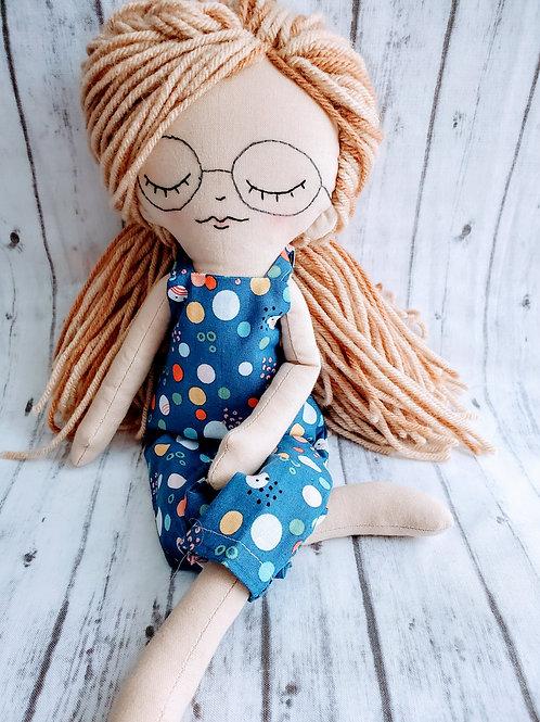 "16""Heirloom Doll Blonde w/Glasses"