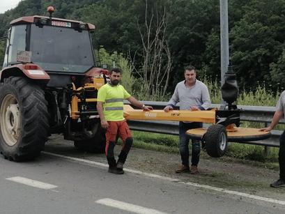 Entregamos en Asturias la novedosa trituradora INTERPIQUET de Serrat