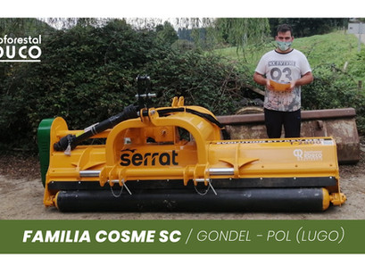 Agroforestal Rouco entrega a COSME SC una trituradora Evolution Reversible Desplazable, de Serrat.