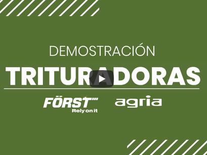 La trituradora FORST y la desbrozadora AGRIA de demostración en Cervo, Xove, Muras y Foz.