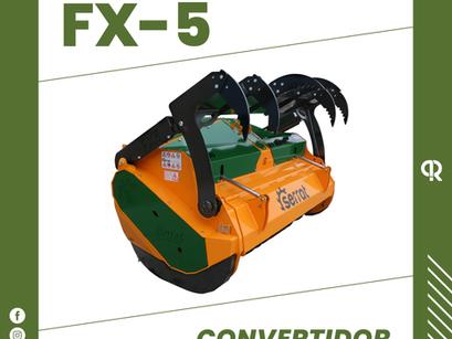 El CONVERTIDOR DE PAR y la trituradora FX-5 Serrat, dos aliados perfectos.
