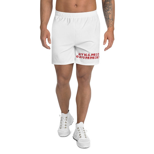 Dynamic Drumming Men's Athletic Long Shorts White