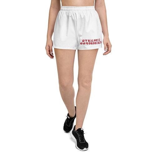 Dynamic Drumming Women's Athletic Short Shorts White