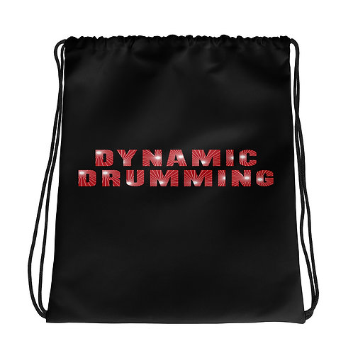 Dynamic Drumming Drawstring Bag