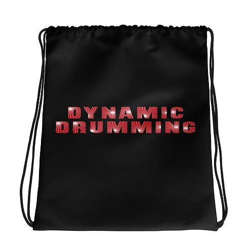 Dynamic Drumming Drawstring Bag