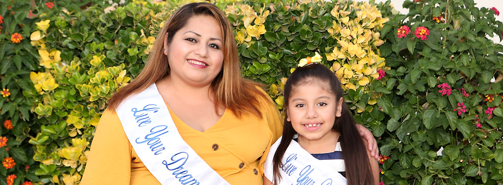 Mother and daughter winners of the Live Your Dream Awards
