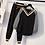 Thumbnail: חליפת צווארון וי צבע שחור