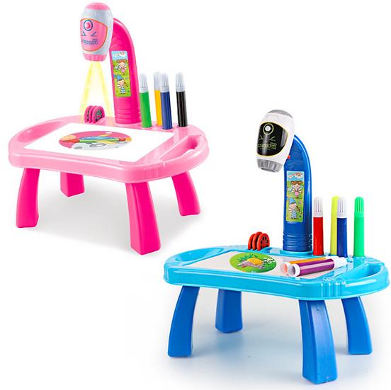 שולחן יצירה ופעילות לילדים עם מקרן לציורים