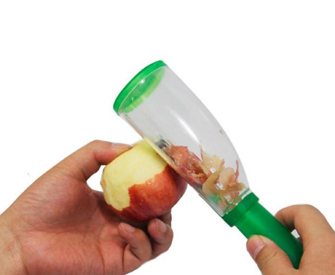 קולפן עם מיכל איסוף קליפות  לעבודה נקיה במטבח