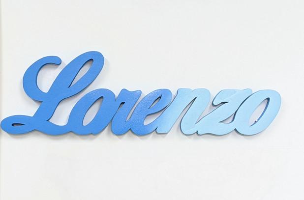 Scritta d'appoggio Lorenzo | Scritte in legno