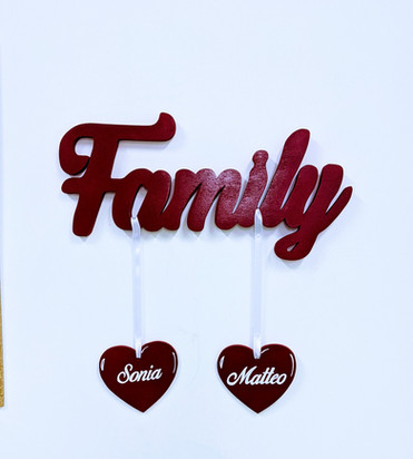 Scritta Family portafoto | Scritte in legno