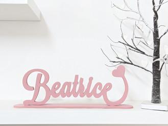 Scritta d'appoggio Beatrice | Scritte in legno