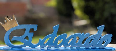 Scritta d'appoggio Edoardo | Scritte in legno