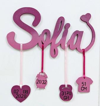 Scritta per nascita Sofia | Scritte Nomi Personalizzate