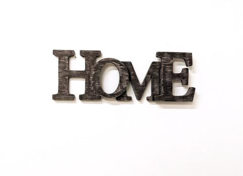 Scritta in legno Home