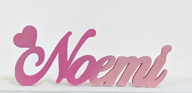 Scritta d'appoggio Noemi | Scritte Nomi Personalizzate