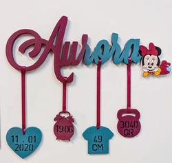 Scritta per nascita Aurora | Scritte Nomi Personalizzate
