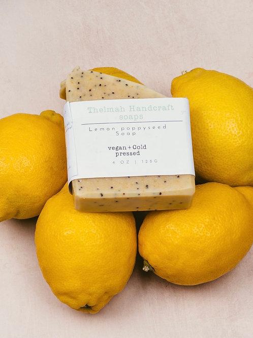 Lemon Poppy Seed bar soap