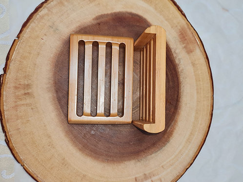 Wooden Bamboo Soap Saver