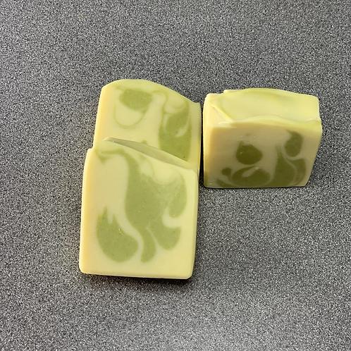 Creamy Lemongrass and Coconut Milk bar Soap
