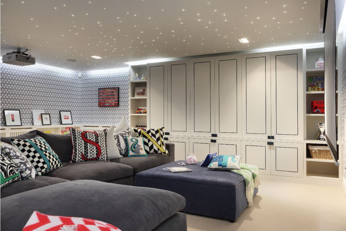 Playroom cupboards with decorative channels Interior designer - Turner Pocock