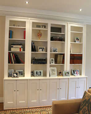 Bookcase with panelled doors