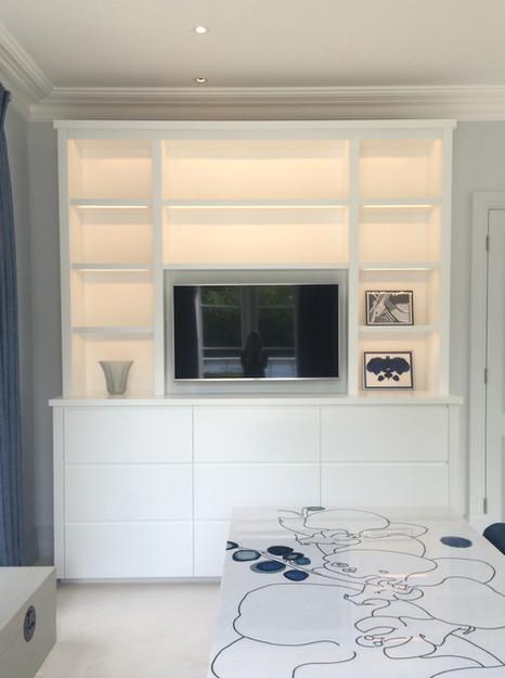 Contemporary bookcase Interior designer - Northwick Design