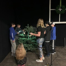 BPC Shine Teens church Christmas trees.D